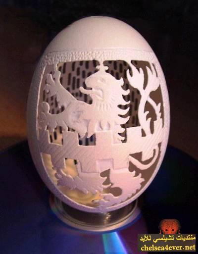 النحت قشور البيض